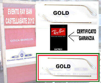 RayBan Aste Ricambio oro 140 Temples side arms 3025 3026 3030 3292 Shooting