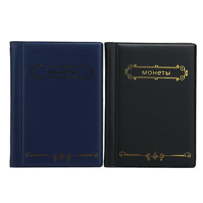 2 x Coin Storage Album 10 Page 120 Pockets (Black)