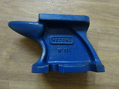 Vintage Record No 11 Anvil -  Old hand tool