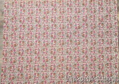 "Near 5 yards! Breezy VINTAGE 30-40s Packed Floral Cotton Dress Fabric 35""wide"