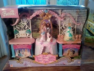 barbie prince and the pauper wedding and vanity play set