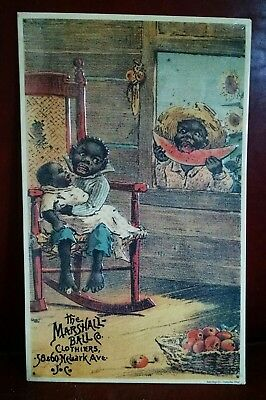 Marshall Ball Co Clothiers 56 & 60 Newark Ave JC advertising Vintage metal Sign