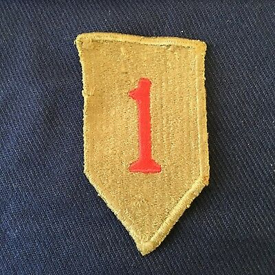 First Division shoulder patch with greenback