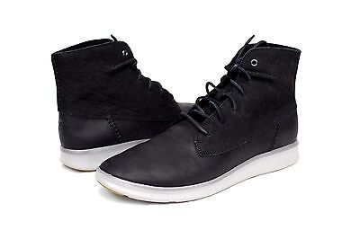 9c1a60b86a3 UGG LAMONT BLACK Mens Leather Boots High Top Sneaker Size 12 Us ...