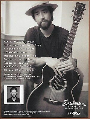 Jackie Green Eastman Guitar Single Page Magazine Print Ad 2015