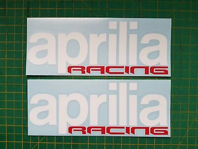 aprilia racing decals x 2 210mm long