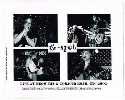 G-SPOT Rare Band Press Photo Live at Meow Mix NYC indie Rock,New Wave Grrl Punk