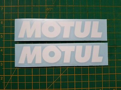 Motul Oil decals x 2 6 inch long