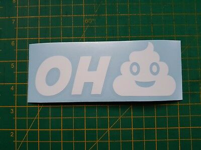 Oh Poo emoji decal 6 inch long