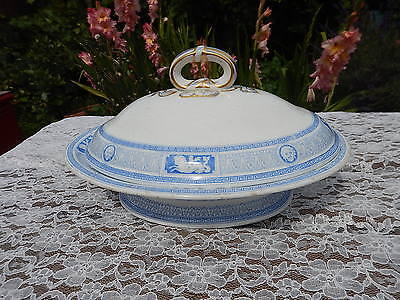 "Minton & Co ""Antique"" pattern Diamond marks c1864 Tureen lidded"