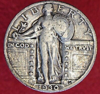 1930 Standing Liberty Silver Quarter 25C! >>>> HIGHER GRADE! >>>> SEE OUR STORE!