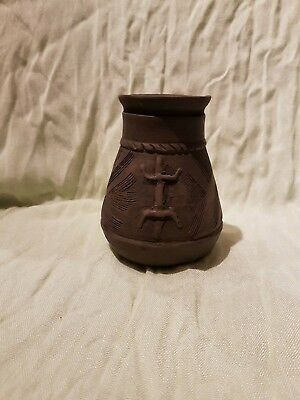 Pottery Viking ritual vessel with lizard 800 AD museum quality