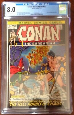 Conan the Barbarian #15 CGC 8.0 white pages
