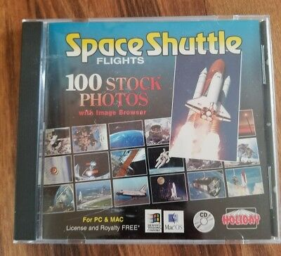 Space Shuttle Flights CD for PC; 100 Stock Photos