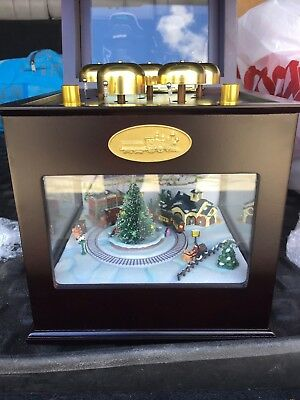 Animated Symphony Of Bells Musical Tabletop Decoration Glamorous Mrchristmas Gold Label Animated Music Box Symphony Of Bells Decorating Design