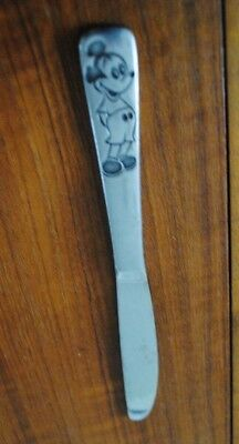 Vintage Childrens Silverware Mickey Mouse Butter Knife WALT DISNEY