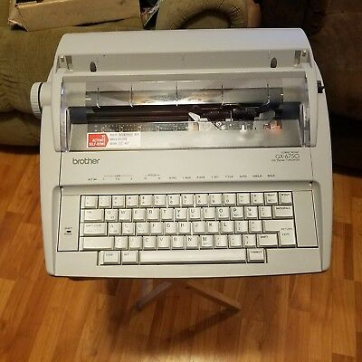 Brother GX-6750 Correctionic Daisy Wheel Electronic Typewriter + Correction Tape