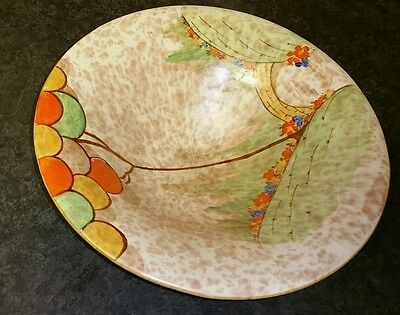 Bewley pottery vintage deco 3 footed 10.5 inch wide display bowl. Stunning