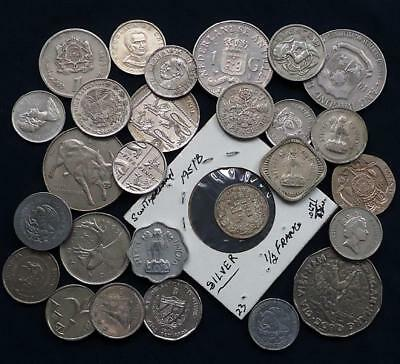 Foreign World Coins W/silver, Lot Of 27 *read Prior Bidding*