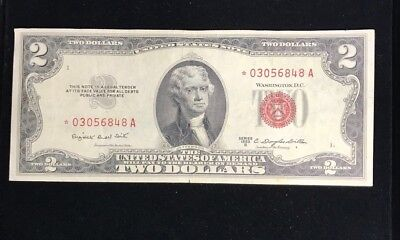 1953 Two Dollar Bill Red Seal $2 United States Note