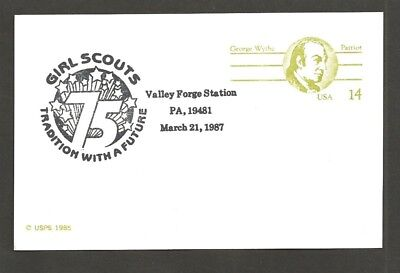 1987 US Girl Scouts 75th anniversary Valley Forge cancel