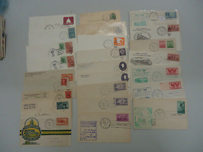 """Usa Stamp Cover Collection Of Vintage 'railway & Road Post Office Covers """" X 25"""