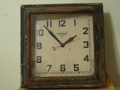 Vintage 1930's Hammond Synchronous Electric Wall Clock Beautiful Original Patina