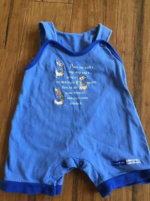 Baby Peter Rabbit Size 000 Suit Ex Cond