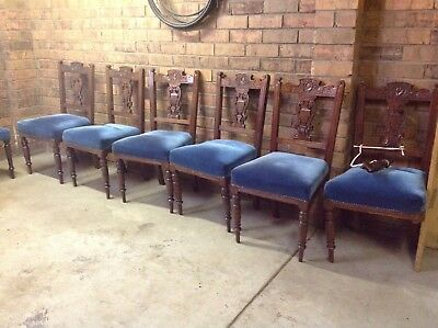 Set Of Antique Dining Chairs