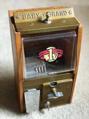 Victor Vending Co. One Cent Baby Grand Wooden Gumball Machine