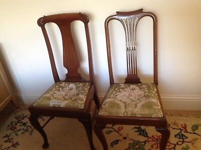 2 Antique Mahogany chairs