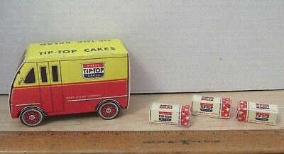 Vintage WARDS TIP-TOP BREAD Cardboard Truck And # Small Bread Boxes Advertising