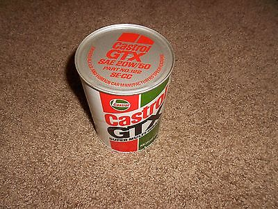 Vintage Castrol GTX High Performance Motor Oil 20W50 Cardboard Can Unopened,Rare