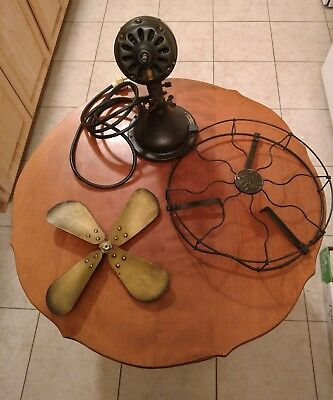 Antique GE Art Deco Alternating Current Motor Fan pat feb.1906 USA needs work