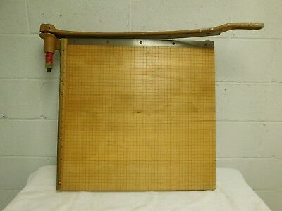 """INGENTO No 1162 24"""" x 24"""" maple guillotine trimming board paper cutter !!!"""