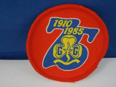 Girl Guides International 75 Anniversary 1910 1985 Patch Collector Badge