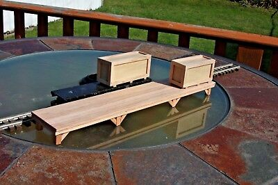 """S gauge handmade (USA)  freight platform 16 3/8"""" for American Flyer and others"""