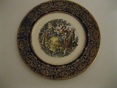 "11"" IMPERIAL CHINA PLATE by Salem-23K Gold Service Plate-VINTAGE COLLECTIBLE"