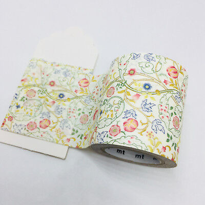 Wide Washi Tape 1/2 Mtr Sample Mt William Morris Mary Isobel Mtwill06 50Mm