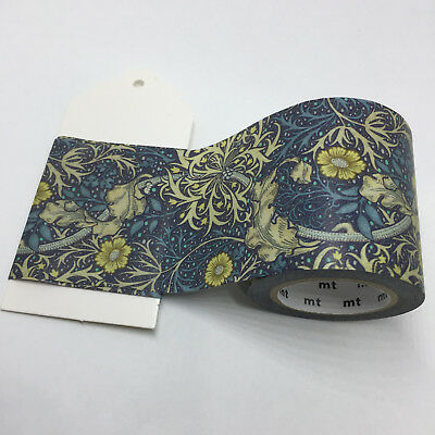Wide Washi Tape 1/2 Mtr Sample Mt William Morris Seaweed Mtwill10 50Mm X 50Cm