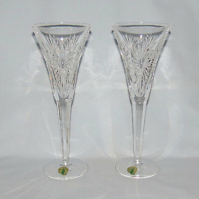 pair WATERFORD CRYSTAL Millenium Year 2000 toasting goblets HEALTH