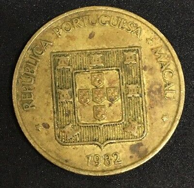Portuguese Macao 1982 50 Avos Portugal Colony World Foreign Coin