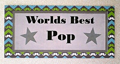 Worlds Best Pop...  Handmade Fridge Magnet  - Great Gift Idea