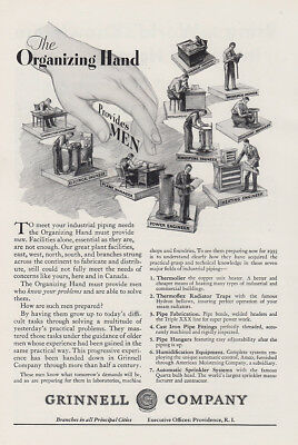 1930 Grinnell Company: Organizing Hand Provides Men Vintage Print Ad