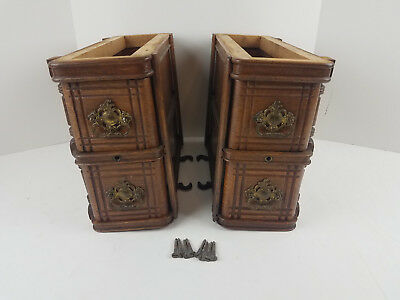 Set of 4 Drawers & Frames Singer Treadle Sewing Machine Cabinet Cubby Hole