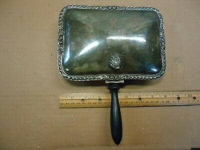 Vintage, as found, EPCA POOLE 28 silverplate crumb catcher ashtray Silent Butler