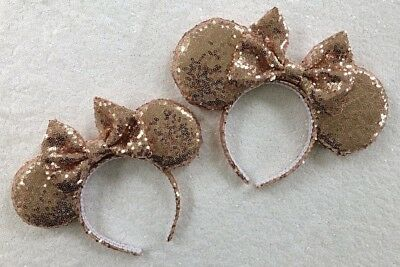 Rose Gold Sequin Mommy and Me Minnie Mouse Ears set , Sequin Ears, Mickey Mouse