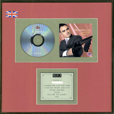 Morrissey You Are The Quarry UK award disc GOLD AWARD ATTACK RECORDS 2004