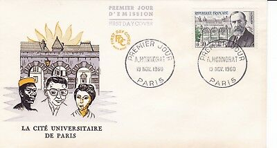 FR37 france  1960 LA CITE UNIVERSITARE DE PARIS FDC  $4.00