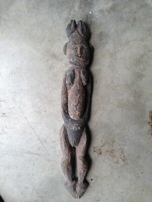 Old New Guinea Fertility Figure Carving Meat Hook Tribal carved Wood